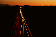 Sunset Traffic Trails (LaurenPhotographs) Tags: longexposure nightphotography light red orange colour art night photography photo lowlight nikon colours photographer traffic lakedistrict trails photograph cumbria nikonuk ahset
