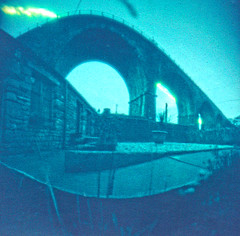 A 1 week solargraph Ingleton Viaduct Greta Cottages (vinkev) Tags: pinhole wppd worldwidepinholephotographyday solargraphy solargraph