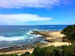 Norah Head scenery (iPhone version) (PeterCH51) Tags: sea seascape landscape coast scenery pacific shoreline rocky australia coastal norah seashore rugged iphone norahhead peterch51