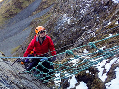 Honister_Via Ferrata (37 of 73) (Kevin John Hughes) Tags: bridge england lake snow mountains net landscape scary burma rope cargo climbing pike keswick buttermere honister dostrict fleetwith mountineering