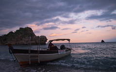 Sicilia-Taomina (Dulce Wang) Tags: light sunset sea italy clouds sicilia