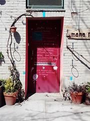 Greenpoint, Brooklyn, NY (lotos_leo) Tags: door red urban ny newyork brooklyn spring outdoor greenpoint