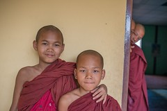Shy novice monks in Shan State, Myanmar. (Jeff Williams 03) Tags: shy myanmar shanstate novicemonks