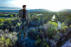 Flying High with DJI (_Mickster) Tags: trees portrait self sunrise river landscape fly spring aerial randy 365 levitate drone dji hereios phantom3professional