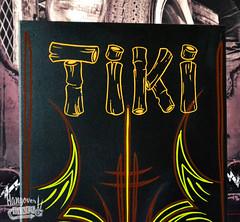 Hangover Lines pinstriping (Hangover_Lines) Tags: hawaii painted canvas hibiscus handpainted lettering tiki voodoo pinstripe handpainting kustom pinstriping kustomart kustompaint hanlettering