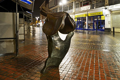 The Walsall Saddle, Bradford Street, Walsall 24/01/2016 (Gary S. Crutchley) Tags: street uk travel england urban sculpture black west art heritage history public st tom night dark ed evening town nikon long exposure raw slow nightscape bradford shot nightshot image time britain united country great kingdom s shutter after local nightphoto af nikkor townscape staffordshire westmidlands lomax saddle walsall midlands d800 blackcountry staffs 1635mm nightimage nightphotograph f40g walsallweb walsallflickr