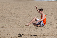 Slackline Practice on the Beach (Splendid What) Tags: beach sand waves promenade dorset bournemouth sandbanks slackline beachpark