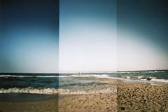beach walk, zinnowitz (maikdoerfert) Tags: sea beach water analog germany lomo lomography waves horizon balticsea diana shore dianaf beachwalk overlapping zinnowitz northerngermany beachstroll nikond90 dianamini