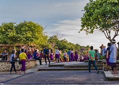 Temple Pura Luhur Uluwatu (monilague) Tags: sky bali cliff cloud green temple day vert jour ciel uluwatu foule nuage falaise arbre pura sentier personnes threes traill luhur personns