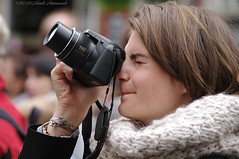 Photographer (Natali Antonovich) Tags: camera brussels portrait concentration photographer belgium belgique belgie grandplace profile lifestyle stare photographercamera sweetbrussels magicianfriendcamera