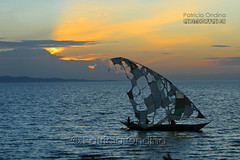 Turkana lake - Lac Turkana (Patricia Ondina) Tags: sunset sky lake canon landscape boat kenya lac ciel bateau paysage voile coucherdesoleil travelphotography turkana turkanalake lacturkana photosdevoyage northkenya esquif loyangalani gibedam nordkenya barragedegibe lacdejade