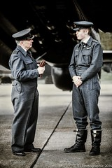 Advice for the Rookie-1 (Explored) (RJ Photographic) Tags: portrait heritage vintage outdoors jane aircraft military just ww2 outfits reinactment lancasterbomber eastkirkby groupcaptain fltlt