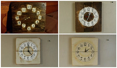 From One Old Pallet To Four Clocks (irecyclart) Tags: clock vintage rustic homedcor recyclingwoodpallets