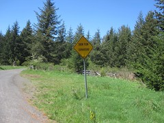 The pavement ends 100 feet past this sign (Tysasi) Tags: permanent dnf brevet 160k sawtell200k
