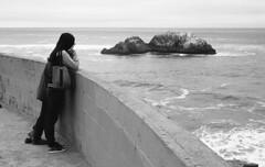 Watching the Waves (bclook) Tags: monochrome pacific noiretblanc d76 schwarzweiss selfprocessed leicam6 filmisnotdead fujineopanacros100 summicron250 istillshootfilm bwfp