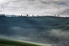 Earthquake weather (agmarcon) Tags: mist landscape hills tuscany cretesenesi