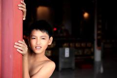 Temple Boy (kieronjameslong) Tags: boy portrait temple sarawak malaysia borneo kuching tinhau chinesetemple goddessofthesea chineseboy thianhou