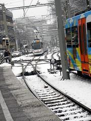 tram lines Bielefeld Germany 26th January 2014 snow  26-01-2014 13-52-06 (dennoir) Tags: snow lines germany january tram bielefeld 26th 2014 1352007 26012014