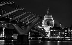 A bridge to St. Pauls (Dan Elms Photography) Tags: city longexposure bridge london thames night canon cityscape nightscape cathedral stpauls millenniumbridge nightshoot nighttime stpaulscathedral riverthames londoncity cityoflondon 70d canoneos70d
