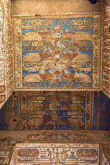 Ceiling Detail, Mortuary Temple of Ramses III, Medinet Habu, Egypt (bfryxell) Tags: egypt luxor thebes medinethabu ceilingdetail mortuarytempleoframsesiii necropolisofthebes