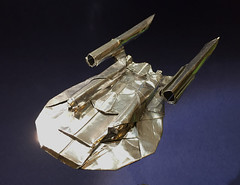 Enterprise NX-01 origami (Matayado-titi) Tags: startrek origami spaceship enterprise starship nx01 sugamata