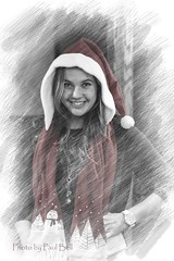Ms Claus ? (psbell2) Tags: family model modeling photoshopped colorized elements santashelper letitsnow pse msclaus lovephotography