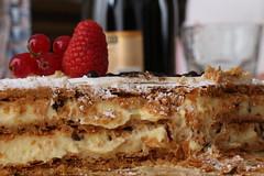 Auguriiii (danielebenvenuti) Tags: birthday stilllife food cake reflex strawberry chocolate cream sugar compleanno crema torta cioccolato auguri chantilly fragola ribes strati pastasfoglia canon700d