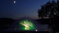Water Play Night Tree Titisee with moon (VillageHero) Tags: flickr simplybeautiful