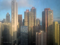 Hong Kong morning view (lh tanG) Tags: city morning windows building skyline hongkong highrise