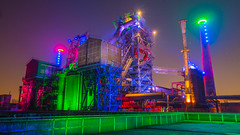 Industrial Landscape Park Duisburg Nord at Night (P1160179) (Andreas Habermehl) Tags: park industry night germany landscape deutschland industrial nrw landschaftspark duisburg industrie nord landschaftsparknord landscapeparknord