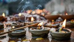 Pooja ! (saurabhamrit) Tags: smoke pots oil pooja lamps waste tradition earthen diya bihar chhath
