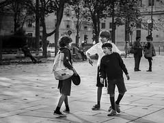 Jeux d'enfants (krystinemoessner) Tags: bw paris monochrome nb bn sw enfants jeux krystine taek parisien reflectyourworld flickrunitedaward moessner