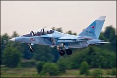 Yakovlev Yak-130 (Pavel Vanka) Tags: plane airplane fly flying fighter russia aircraft jet landing airshow spotting mitten spotter yakovlev kubinka yak130 russianairforce uumb army2015