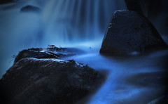 Night Falls (mackenziepix) Tags: travel trees mist mountains nature water field fog wales night river landscape photography miniature waterfall stream long exposure dusk north samsung shift snowdonia tilt depth nx3000 appicoftheweek