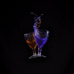 Cheers (Fifescoob) Tags: colour glass canon eos smash wine crash liquid highspeed collide collision 6d