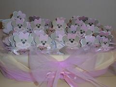 BATTESIMO MATILDE (Hotel Plazza) Tags: rosa battesimo matilde bomboniera fiocco bomboniere fiocchi orsetti orsetto cestino