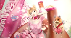 Strawberry Soda (Drscythe Resident) Tags: life pink anime cute girl garden lost store day secret valentine junction sugar sl gimme secondlife virtual kawaii second valentines tsg gacha s0ng