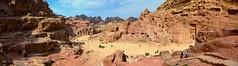 Panoramica desde el Altar, Petra (Travel around Spain) Tags: petra valle paisaje vistas rocas piedras jordania panormica desertico