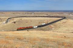 Big 10 Belles (Moffat Road) Tags: railroad up train colorado rocky clay co belle unionpacific locomotive plains curve kcs big10 emd tankcars kansascitysouthern sd70ace eisele retrobelle oiltrain big10curve formerriogrande upmoffattunnelsubdivision