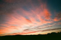 September Sky (Past Our Means) Tags: sunset sky september kodak portra400 travel summer red canon ae1 adventures indiefilmlab 35mm ct connecticut wallingford filmisnotdead istillshootfilm new england
