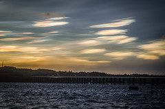 Oil in the Sky (daedmike) Tags: storm weather sunrise river dundee oil tayside taybridge choppy stormhenry