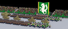 Amestrian Grand Parade (Matthew McCall) Tags: soldier army march war tank lego military parade marching huge alchemist fullmetal amestris