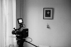 raw0007 (visualbassist) Tags: red blackandwhite film scarlet voigtlander bessa rangefinder 40mm r3a ilford nokton delta400