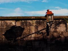 Shadow of a Lamp (Ornickarr Greenbarrow) Tags: blue shadow sky dublin lamp wall