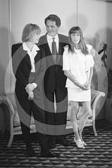 Mireille Darc, Jean Sorel, Ana Obregn - Barcelona, 1990 (Peter CS65 (Barcelona 1990-2000)) Tags: barcelona laura tv series 1990 darc obregon sorel