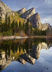 Six Brothers (mikeSF_) Tags: california park trees reflection mike rock clouds 35mm river landscape rocks pentax cloudy outdoor merced valley yosemite medium format yosemitenationalpark a35 oria threebrothers 645z
