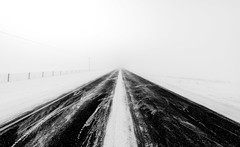 Winter Road (Sandra Herber) Tags: winter snow alberta minamalist