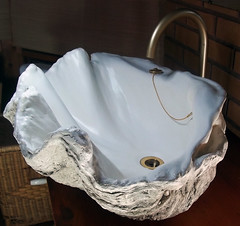 Grey Giant Clam Shell SINK 8 (LittleGems AR) Tags: ocean sea sculpture sun beach home statue giant bathroom shower aquarium soap sand bath sink natural contemporary unique decorative shell craft style toilet towel clam basin special shampoo taps wash ornament gift seashell pearl nautical reef decor spa luxury opulent fossils oneoff clamshell mollusks cloakroom bespoke tridacna sculpt crafted gigas facetowel