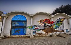 Morning Raga... (The Canon Fanboy) Tags: city morning blue urban india colors dawn graffiti asia delhi wallart explore connaughtplace skyporn traveldiaries