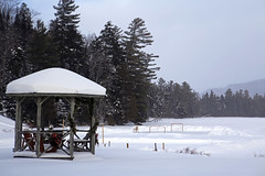 (Jean Arf) Tags: winter lake snow ice frozen motel rink february wildwood adirondack adk lakeplacid 2015